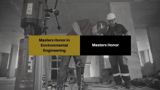 Masters Honors in HSE Engineering