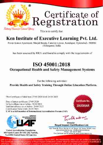 Ken Institute of Executive Learning Pvt Ltd - 45001